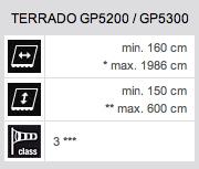 Technische Daten Terrado GP5200 / GP5300
