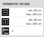 Technische Daten Verimatic VS1000